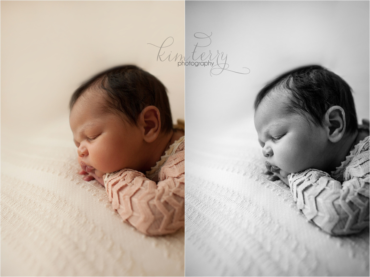 color + b+w newborn